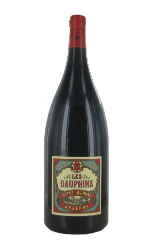 Les Dauphins Côtes du Rhône Réserve Rouge Magnum